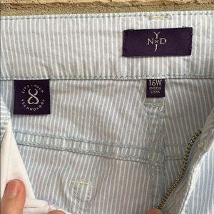 NYDJ Jeans - NYDJ • Pinstripe Crop Jeans Sz 16W